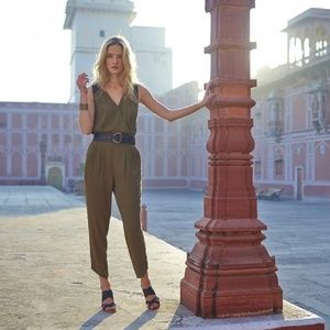 ea654cf40 ... ANTHROPOLOGIE Sani Lace Jumpsuit Green  J51  ...